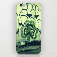 Gritty alley shamrock iPhone & iPod Skin