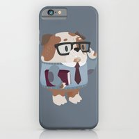 iPhone & iPod Case featuring Smart Bulldog Character by Claire Stamper