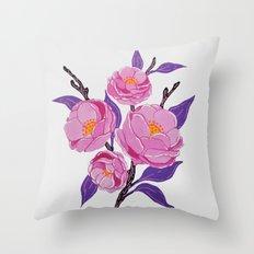 Flower study Throw Pillow
