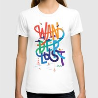 Wanderlust Womens Fitted Tee White SMALL
