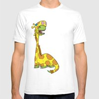 Bronto-raffe Mens Fitted Tee White SMALL