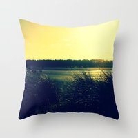 Grass Lands Throw Pillow