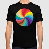 Color Wheel Mens Fitted Tee Black SMALL