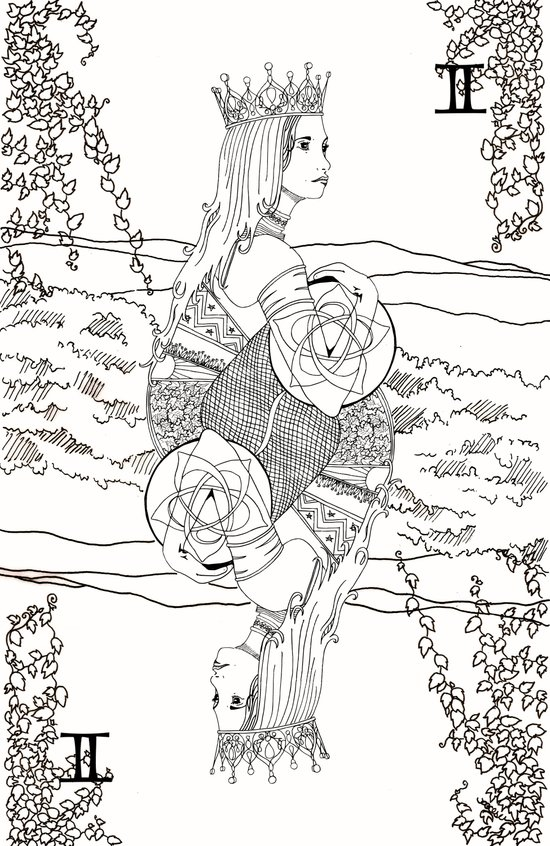 The Queen (Twins) - Black/White Art Print