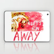Let's Run Away Horse Laptop & iPad Skin