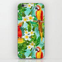 Tropical Parrot Chillin iPhone & iPod Skin