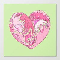 Loveasaurus Canvas Print