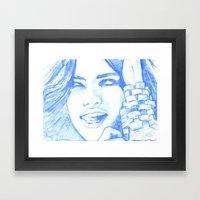 Hielo y Sal Framed Art Print