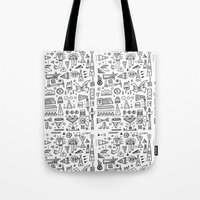 Triangle doodles Tote Bag