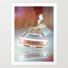 Art Print Daft Punk Flyin Car Art Print