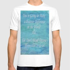 A Positive Difference Mens Fitted Tee SMALL White