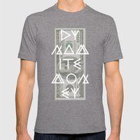 DYNAMITE MONEY Mens Fitted Tee Tri-Grey SMALL