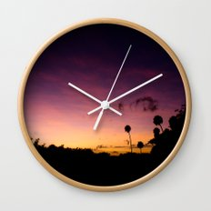 Beautiful Multi Colored Sunset Wall Clock