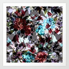 Seamless Absract Flower Pattern Art Print
