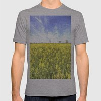 Summer Farm Trees Art Mens Fitted Tee Athletic Grey SMALL