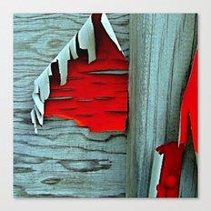 Peeling Red Paint Canvas Print