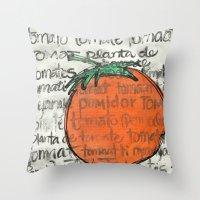 Toma Tomate Throw Pillow