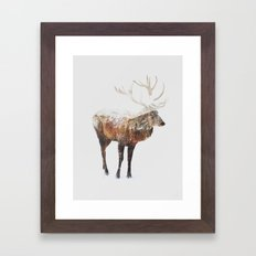 Arctic Deer Framed Art Print