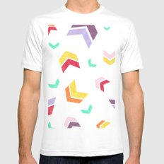 Chevron II SMALL Mens Fitted Tee White
