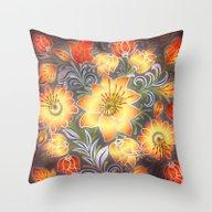 Shabby Flowers #3 Throw Pillow