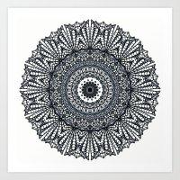 Mandala Mehndi Style G378 Art Print