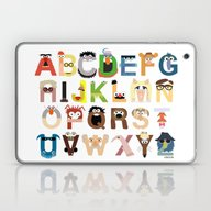 Laptop & iPad Skin featuring Muppet Alphabet by Mike Boon