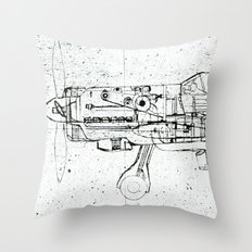 FW - 190 ( B & W) Throw Pillow