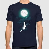 Burn The Midnight Oil  Mens Fitted Tee Navy SMALL