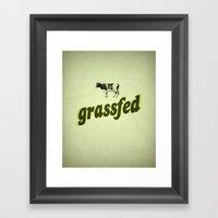 Grassfed Framed Art Print