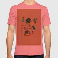 Plant Love. Mens Fitted Tee Pomegranate SMALL