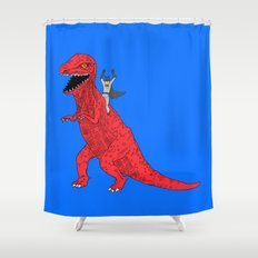 Dinosaur B Forever Shower Curtain