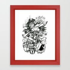 Music is Beauty Crumbling - ANALOG zine Framed Art Print