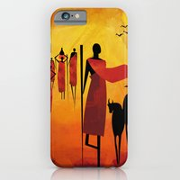 iPhone & iPod Case featuring Maasai by UvinArt