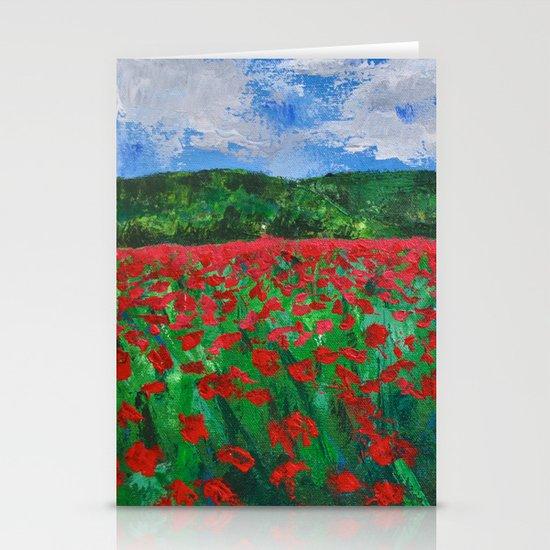 Poppy Field Stationery Card
