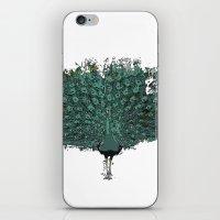 Peacock -blue iPhone & iPod Skin