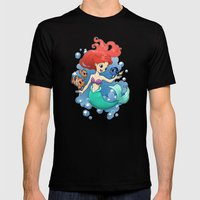 Finding New Friends Mens Fitted Tee Black SMALL