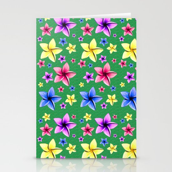Flower Crazy Stationery Card