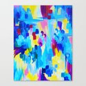 DONT QUOTE ME, Revisited - Bold Colorful Blue Pink Abstract Acrylic Painting Gift Art Home Decor  Canvas Print