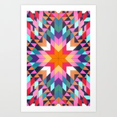 Triangles 2 abstract tribal pattern Art Print