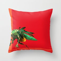 Mad fly Throw Pillow