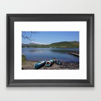 The Lake District - Boating on the Lake Framed Art Print