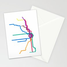 Chicago Subway (No text) Stationery Cards