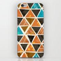 Tribal Triangles - orange iPhone & iPod Skin
