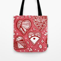 Love Hearts Pink Tote Bag