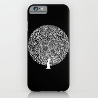 iPhone & iPod Case featuring Black and White Tree by Judy Kaufmann