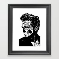 James Dean. Rebel: Zombi… Framed Art Print