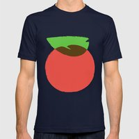 Apple 24 Mens Fitted Tee Navy SMALL