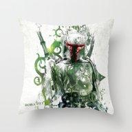 Star Wars _ Boba Fett Throw Pillow