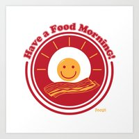 Food Morning! Art Print