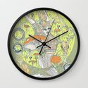 musgo oliva Wall Clock